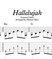 Hallelujah - Sheet Music & Tabs の画像