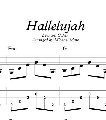 图片 Hallelujah - Sheet Music & Tabs